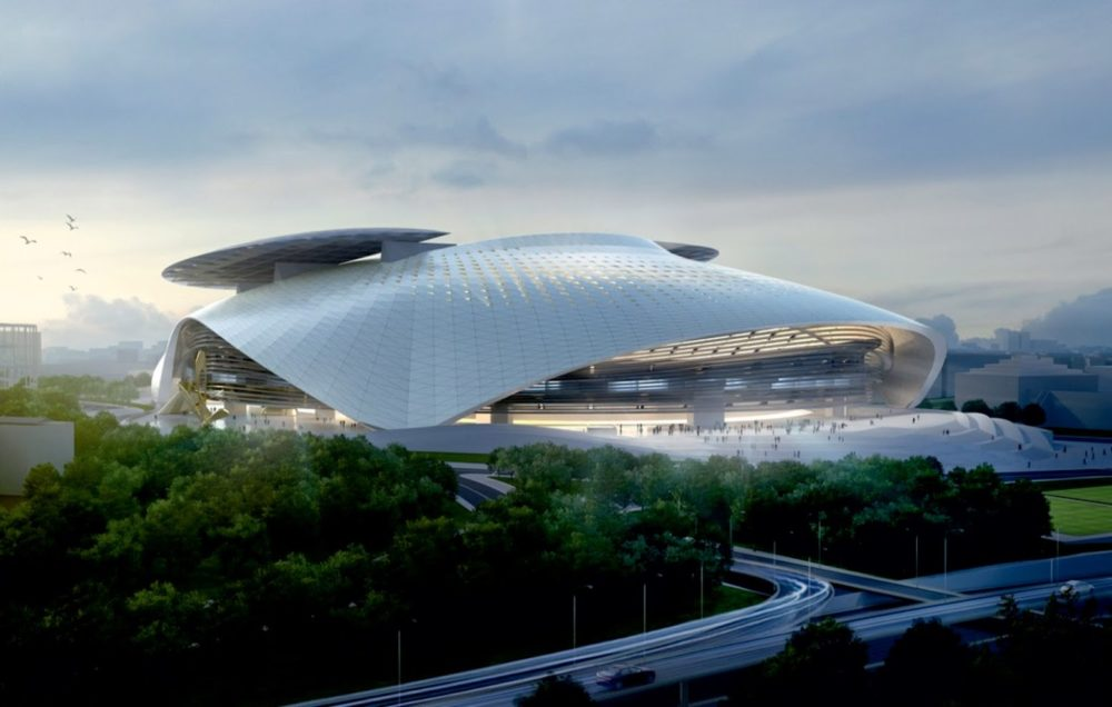Silk Leaf Stadium by Coop Himmelb(l)au01