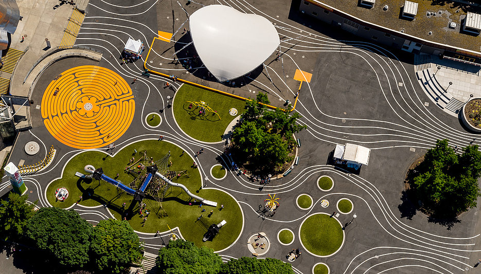 Artists at Play Playground. Seattle Center