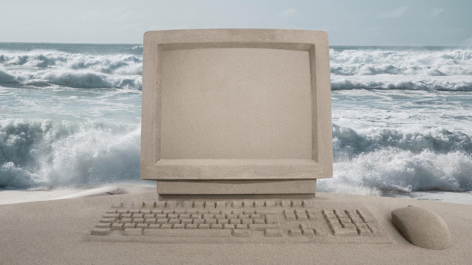 Sand sculpture computer
