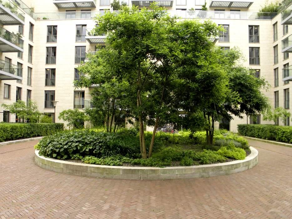 LANDLAB OEVERHOEK courtyard garden green planter