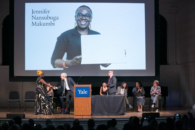 Jennifer-Nansubuga-Makumbi-meets-Peter-Salovey-President-of-Yale